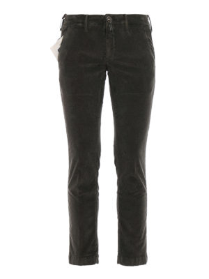 Jacob Cohen: casual trousers - Style 626 olive corduroy trousers