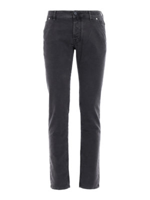 Jacob Cohen: casual trousers - Velvety cotton trousers