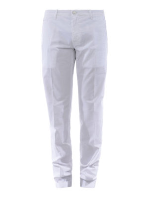 JACOB COHEN: pantaloni casual - Pantaloni in cotone stretch bianco