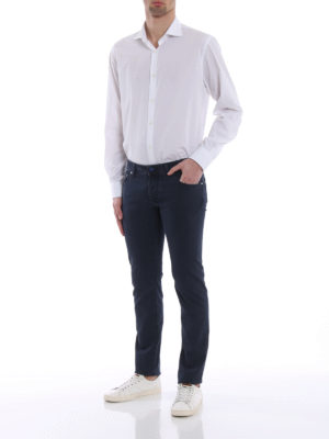 JACOB COHEN: pantaloni casual online - Pantaloni in cavallery blu