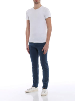 JACOB COHEN: pantaloni casual online - Pantaloni in morbido twill blu