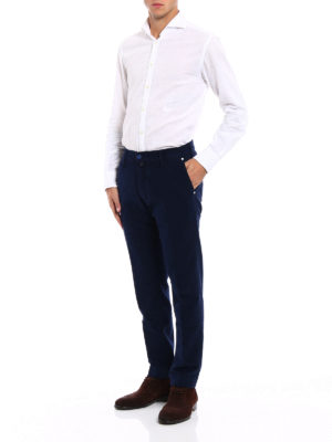 JACOB COHEN: pantaloni casual online - Pantaloni in vellutino blu