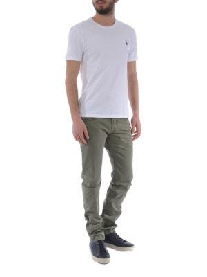 JACOB COHEN: pantaloni casual online - Pantaloni in cotone verdone