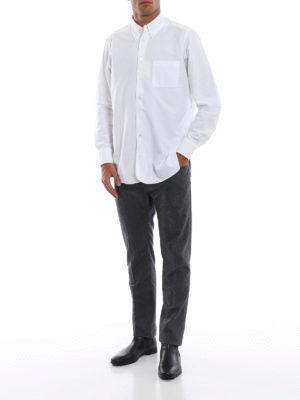 JACOB COHEN: pantaloni casual online - Pantaloni stile jeans in flanella antracite