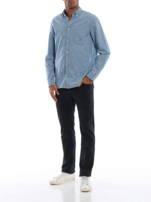 JACOB COHEN: pantaloni casual online - Pantaloni blu in cotone micro fantasia
