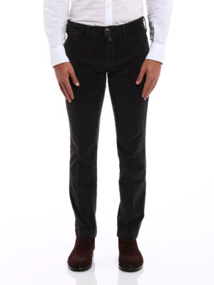 JACOB COHEN: pantaloni casual online - Chino Style 626 in velluto marrone