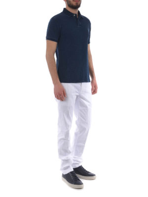 JACOB COHEN: pantaloni casual online - Pantaloni in cotone stretch bianco