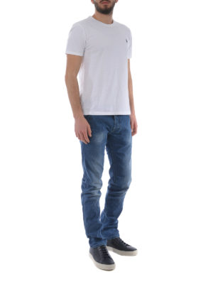 a sigaretta - Jeans in denim delavé