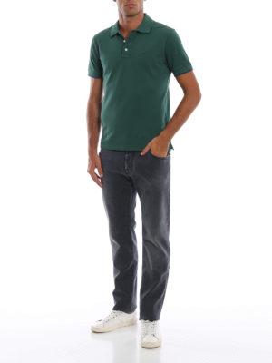 a sigaretta - Jeans in denim grigio slavato