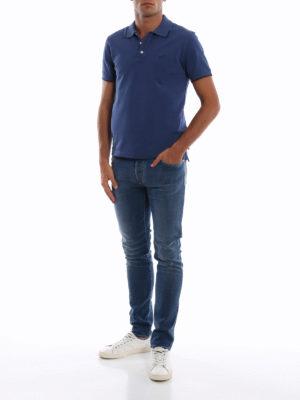 a sigaretta - Jeans slim fit in denim stretch slavato