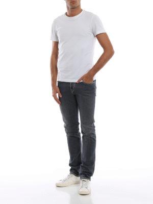 a sigaretta - Jeans cinque tasche grigi Style 622