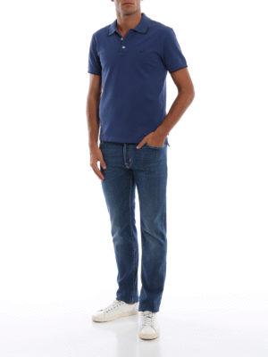 a sigaretta - Jeans in denim stretch lavaggio medio