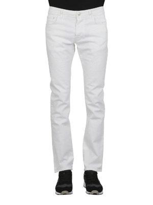 a sigaretta - Jeans PW688 in denim bianco