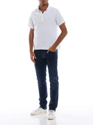 a sigaretta - Jeans comodi cinque tasche in denim fermo