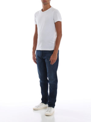 a sigaretta - Jeans slim fit con cuciture a contrasto