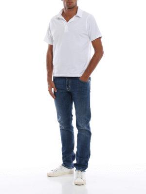 a sigaretta - Jeans comodi cinque tasche in denim stretch