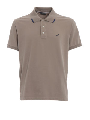 Jacob Cohen: polo shirts - Contrasting details taupe polo