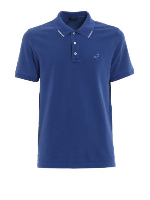 Jacob Cohen: polo shirts - Contrasting insert polo shirt