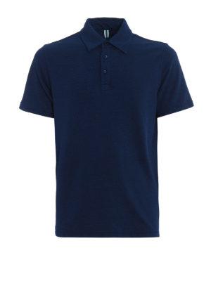 Jacob Cohen: polo shirts - Natural indigo dyed polo shirt