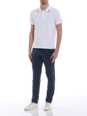 Jacob Cohen: polo shirts online - Contrasting details polo shirt