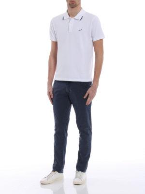 Jacob Cohen: polo shirts online - Contrasting details polo shirt