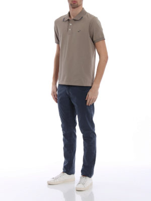 Jacob Cohen: polo shirts online - Contrasting details taupe polo