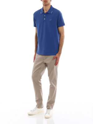 Jacob Cohen: polo shirts online - Contrasting insert polo shirt
