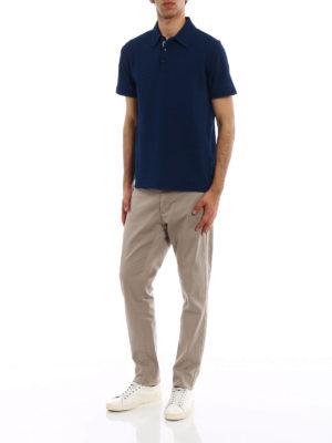 Jacob Cohen: polo shirts online - Natural indigo dyed polo shirt