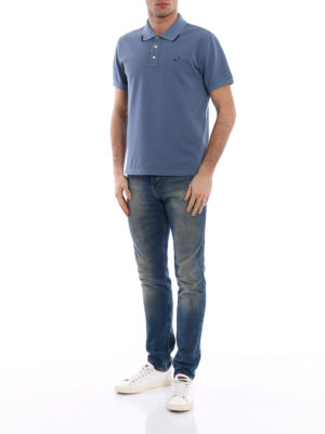 Jacob Cohen: polo shirts online - Striped trim light blue polo shirt