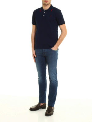 Jacob Cohen: polo shirts online - Washed pique polo shirt