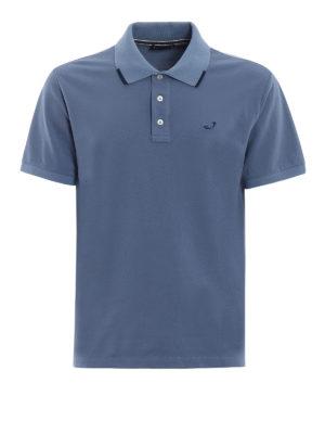 Jacob Cohen: polo shirts - Striped trim light blue polo shirt
