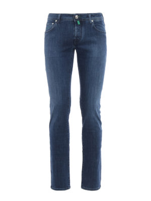 Jacob Cohen: skinny jeans - Faded denim jeans