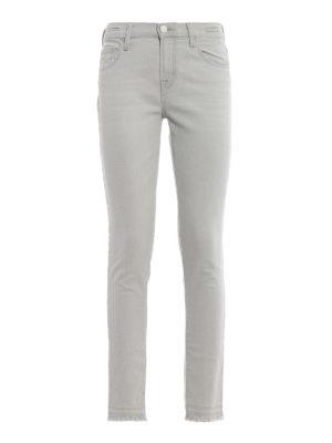 JACOB COHEN: jeans skinny - Jeans skinny Kimberly Crop in denim grigio