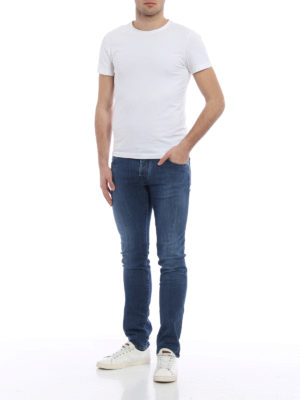 Jacob Cohen: skinny jeans online - Faded denim jeans