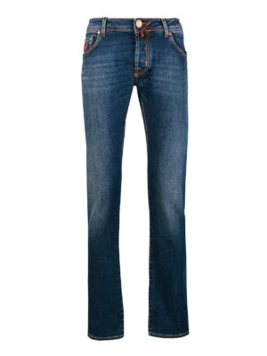 JACOB COHEN: jeans skinny - Jeans cinque tasche a vita bassa