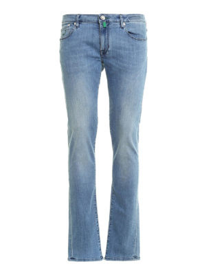 Jacob Cohen: straight leg jeans - 696 Stonewashed jeans