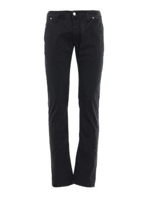 Jacob Cohen: straight leg jeans - Black logo label detailed jeans