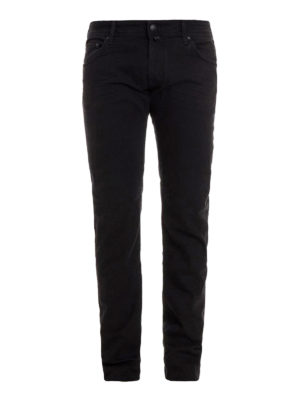 Jacob Cohen: straight leg jeans - Black stretch denim jeans
