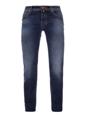 Jacob Cohen: straight leg jeans - Blue stretch denim cotton jeans