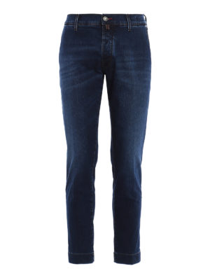 Jacob Cohen: straight leg jeans - Chino style faded jeans