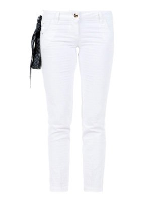 Jacob Cohen: straight leg jeans - Chloe jeans with handkerchief
