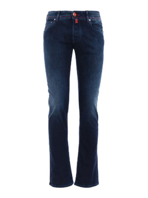 Jacob Cohen: straight leg jeans - Contrasting stitchings jeans