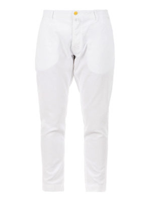 Jacob Cohen: straight leg jeans - Cotton crop jeans