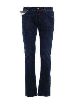 Jacob Cohen: straight leg jeans - Cotton jeans with handkerchief