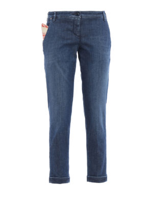 Jacob Cohen: straight leg jeans - Crop chino jeans