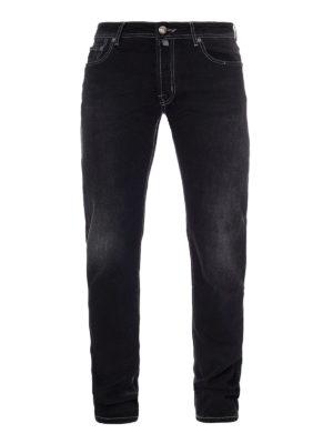 Jacob Cohen: straight leg jeans - Faded dark wash denim jeans