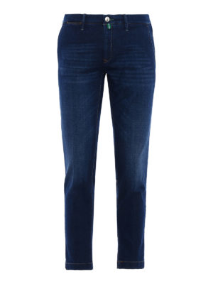 Jacob Cohen: straight leg jeans - Faded denim chino-style jeans