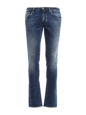 Jacob Cohen: straight leg jeans - Faded denim jeans