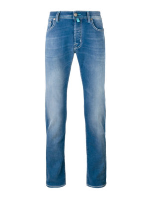 Jacob Cohen: straight leg jeans - Faded denim tailored jeans