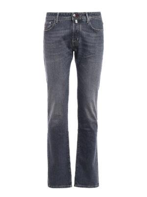 Jacob Cohen: straight leg jeans - Faded grey denim jeans